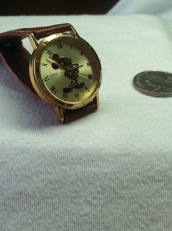 Men's Vintage Mickey Mouse Lorus-Seiko Gold Coin Watch