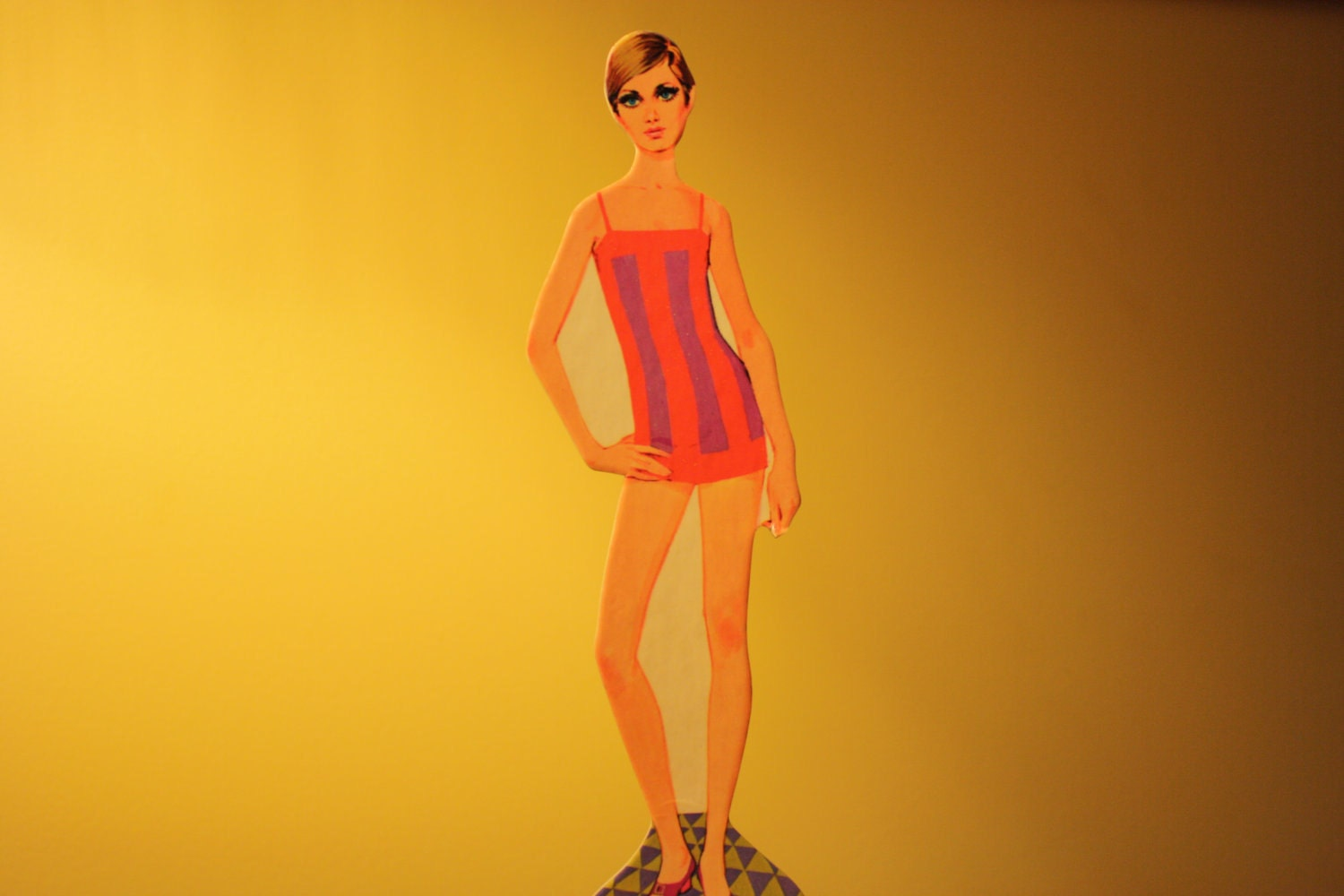 Reduced Vintage Mod Twiggy Paper Doll By Whitman 1960s
