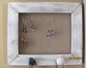 Jewelry Oraganizer Antique White Earring Organizer Necklace Organizer