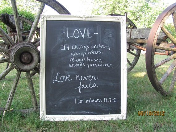 Extra Large Chalkboard Frame Wedding Sign Memo Board Chalk board Menu Board