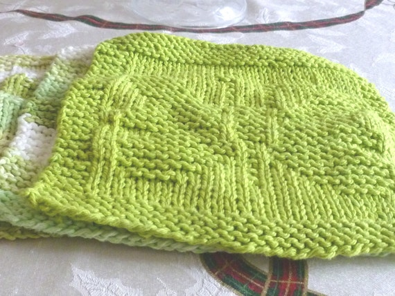 Knitting Pattern Butterfly Dishcloth : Butterfly Hand Knit Dishcloths Set of three by StitchinPalace