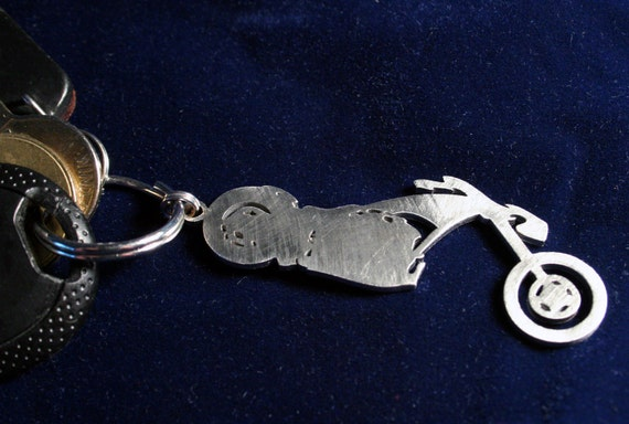Stainless Steel Chopper Keychain Charm I