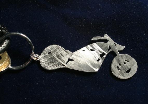 Stainless Steel Chopper Keychain Charm III