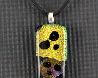 Skulls- Fused Dichroic Glass (Pendant-CA113)