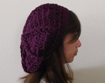 Purple slouchy hat/ Slouchy Beanie