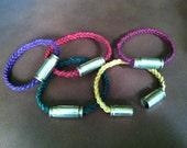 Shell Case Braided Leather Bracelet