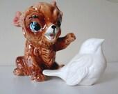 Vintage Salt Shaker //// Bear Cub