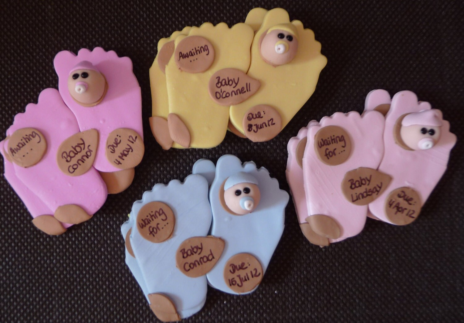 baby shower favors babyfeet magnets set of 10 by nsdomeafavor