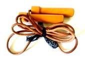ViNTAGE Leather Jump Rope Wood Handles