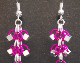 Sparkly Dangle Chainmaille Earrings