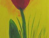 Original Acrylbild TULPE