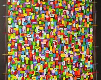 xxl abstrakt art painting 40 x 40 ( 100 x 100 cm)