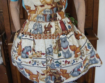 Puppy Print Woman's Apron