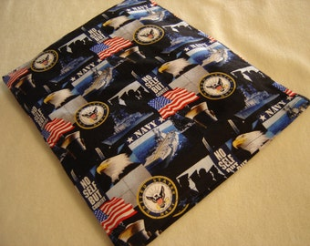 Navy Back Warmer Corn Cozie