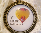 I heart Hot Air Balloons Necklace
