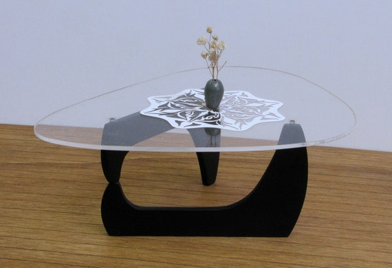 Noguchi tribeca coffee table 1 6 scale replica handmade for Furniture of america architectural inspired dark espresso coffee table