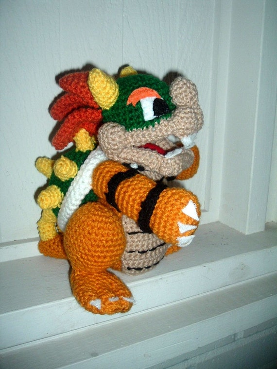 Amigurumi Free Patterns Beginners : Crochet Amigurumi Super Mario Brothers Bowser