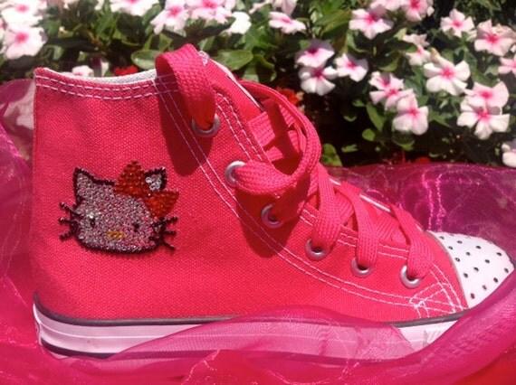 Swarovski Designed Hello Kitty Tennis Shoes for Girls
