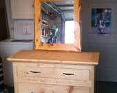 Country dresser with mirror