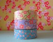 """Washi Tape Boxed Set """"Sakura"""" Set of Three 10 Meter Rolls"""