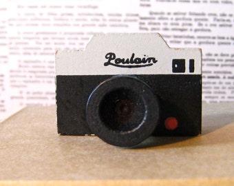 Poulain Vintage Camera Rubber Stamp.