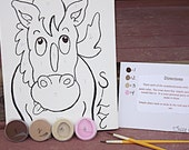 Paint By Number Kit For Kids Example Only-Horse
