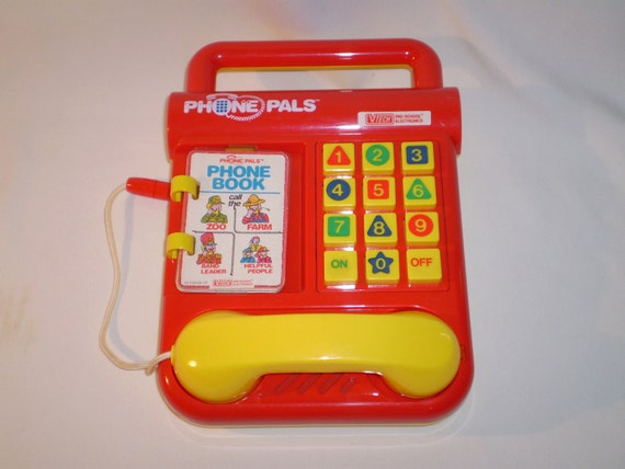 Vintage Toy PHONE PALS by VTech, 1990, Great Condition