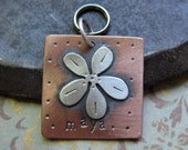 medium custom dog tag, copper