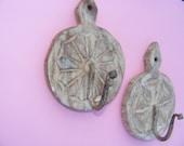 Antiqued wooden coat hooks