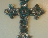 Hand decorated wall cross.