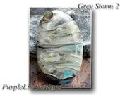 Grey Storm 2, Lampwork Cabochon,ThePurpleLilyBeads,SRA