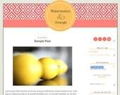 Watermelon and Orange- Premade Blogger Design Template