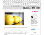 Gray and Charcoal Ikat- Premade Blogger Design Template