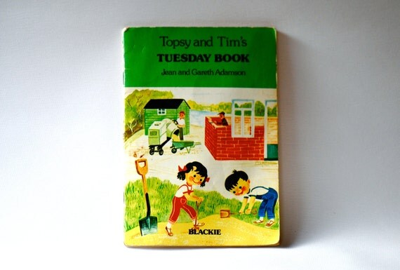 Topsy and Tim Tuesday Book Retro Children's book School memories