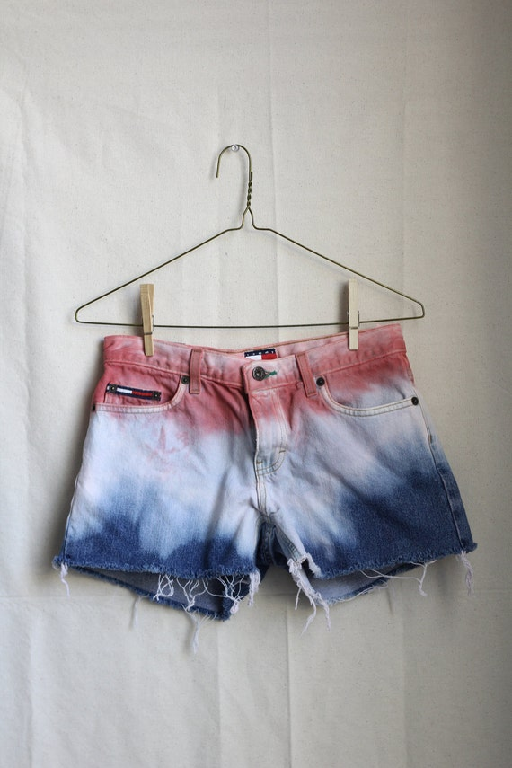 Red White and Blue Denim Shorts SIZE 5