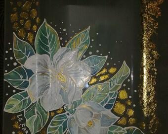 Glass dish Magnolie