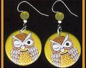 winking OWL EARRINGS