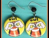 Sign Language OWL EARRINGS