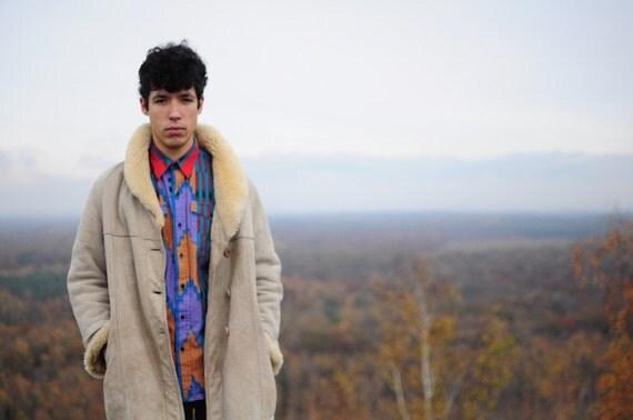 Manteau en peau lainée, l' Amérique
