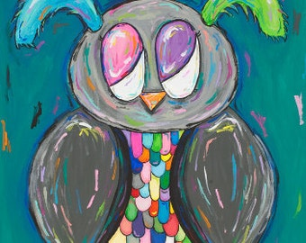 Rainbow Owl (original)