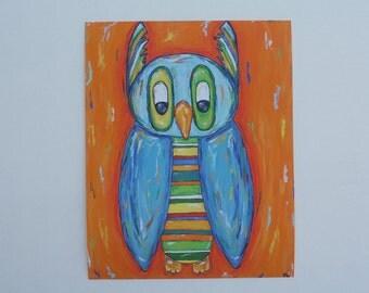 Mr. Striped Owl Reprint (5x7)