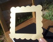 Gold frame die cut - scrapbooking , banners , framing , pictures , invitations , wedding