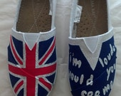 """One Direction """"If I'm Louder Would You See Me"""" Custom Imitation TOMS"""