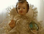 Vintage Infant of Prague 1950s chalkware