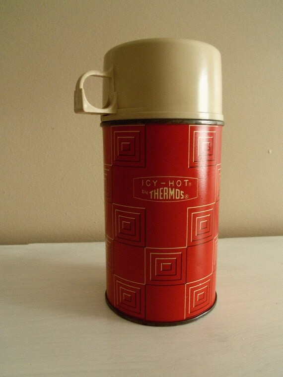 Vintage Icy-Hot Thermos Red
