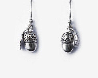 Acorn and Oak Leaf Earrings