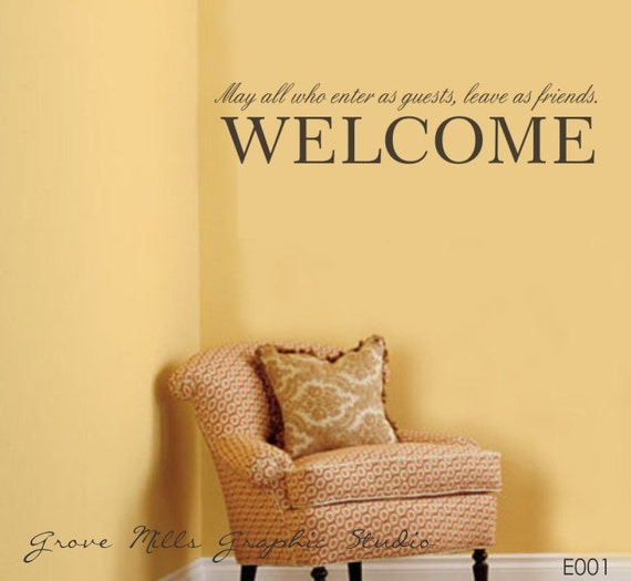 Welcome to our home Wall Decal - Welcome Wall Decal - Family Wall Decal - Wall Decal - Wall Decor