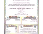 Personalized On Any Special Day in History Gift Scroll -  Digital PDF Version