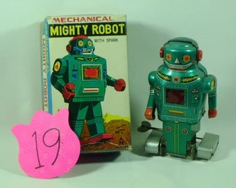 Mechanical Mighty Robot with spark