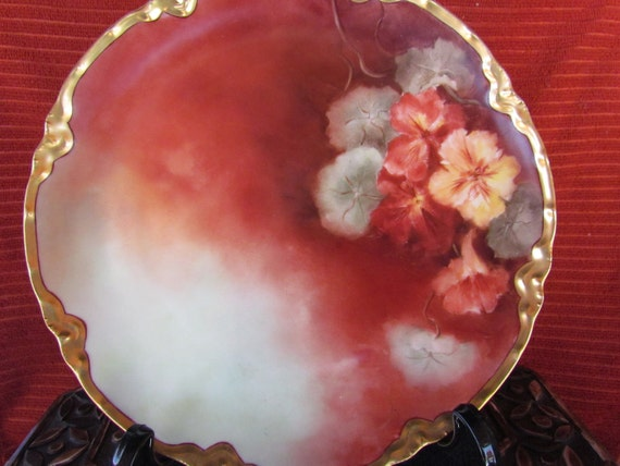 Haviland Plate France Edwardian Hand Painted